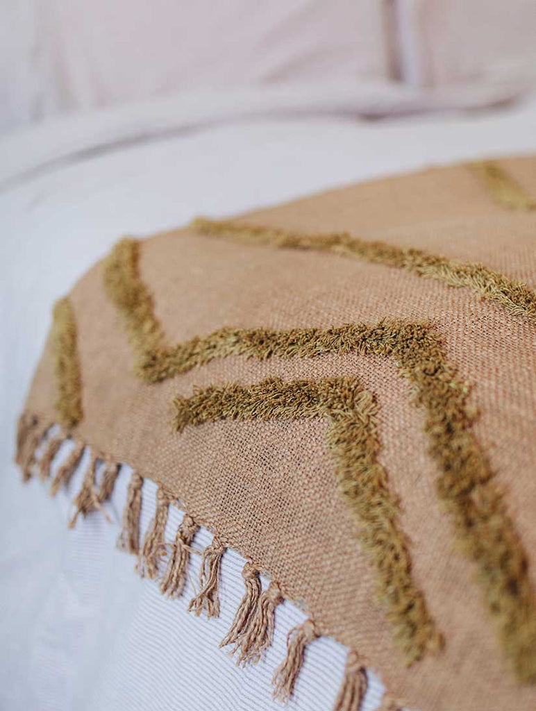 Cotton Fringe Pattern Throw
