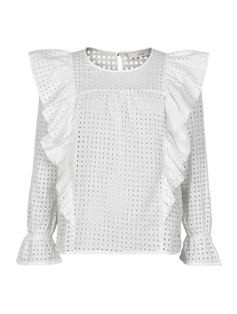Bryanna Ruffle Blouse Bright White