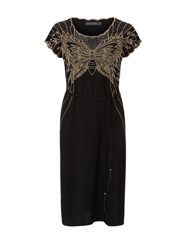 Butterfly Cutwork Embroidered Dress