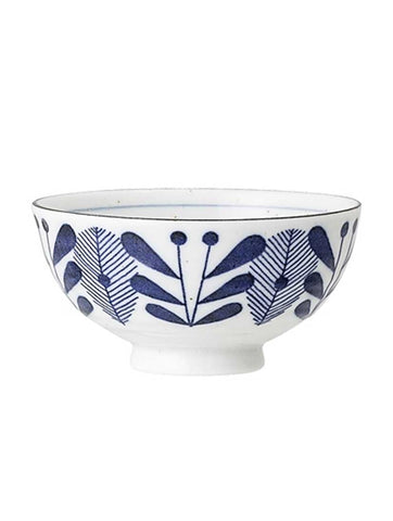 Camellia Porcelain Bowl Leaf Bowl Blue