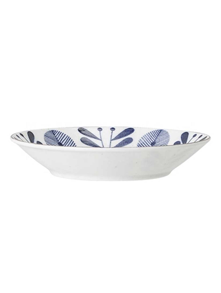 Camellia Porcelain Serving Bowl Blue