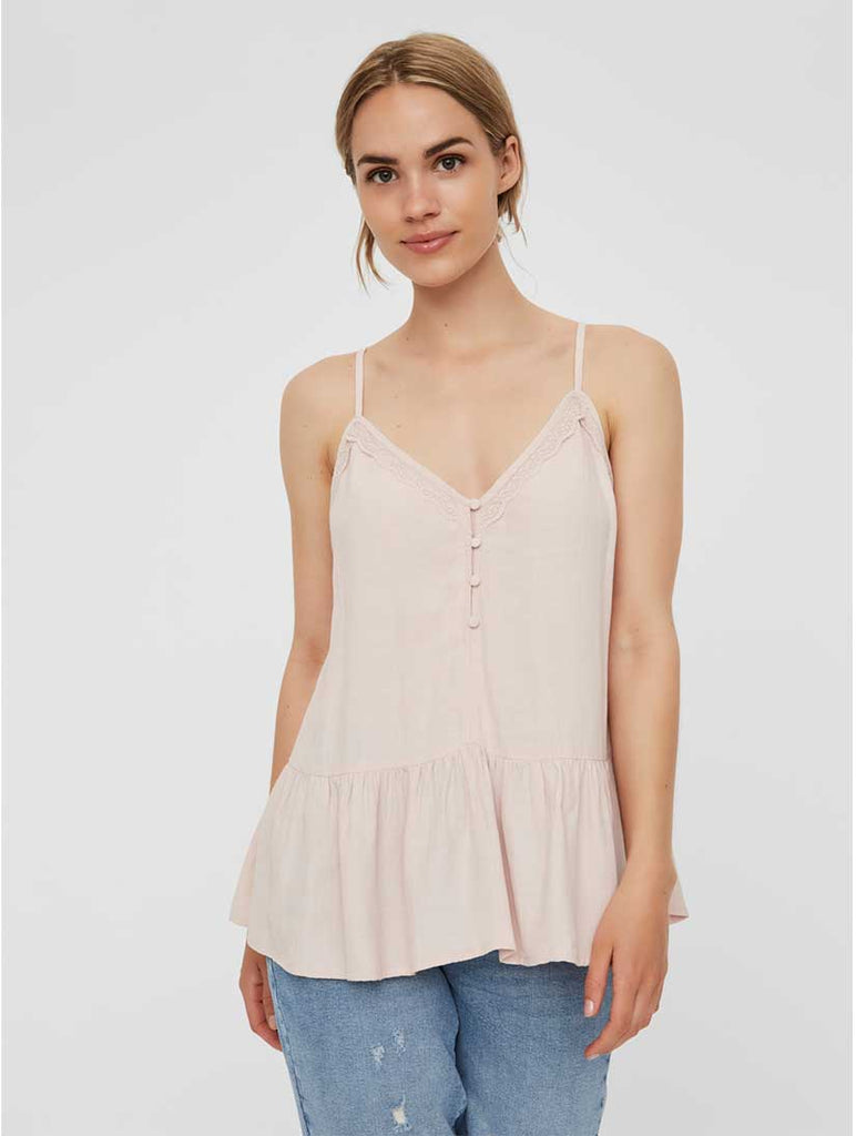 Vida Vest Top Sepia Rose
