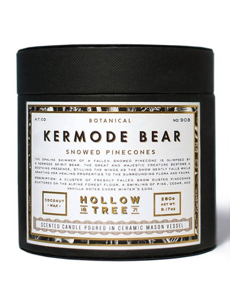 Hollow Tree Candles - Kermode Bear