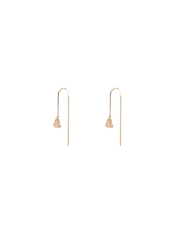 Carmen Textured Pull Through Earrings Gold