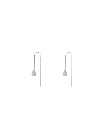 Carmen Textured Pull Through Earrings Silver