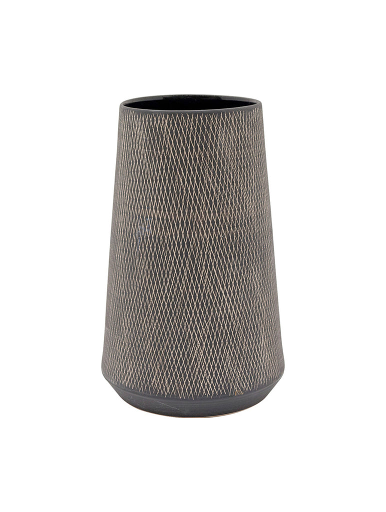 Carol Vase Ceramic Black Large
