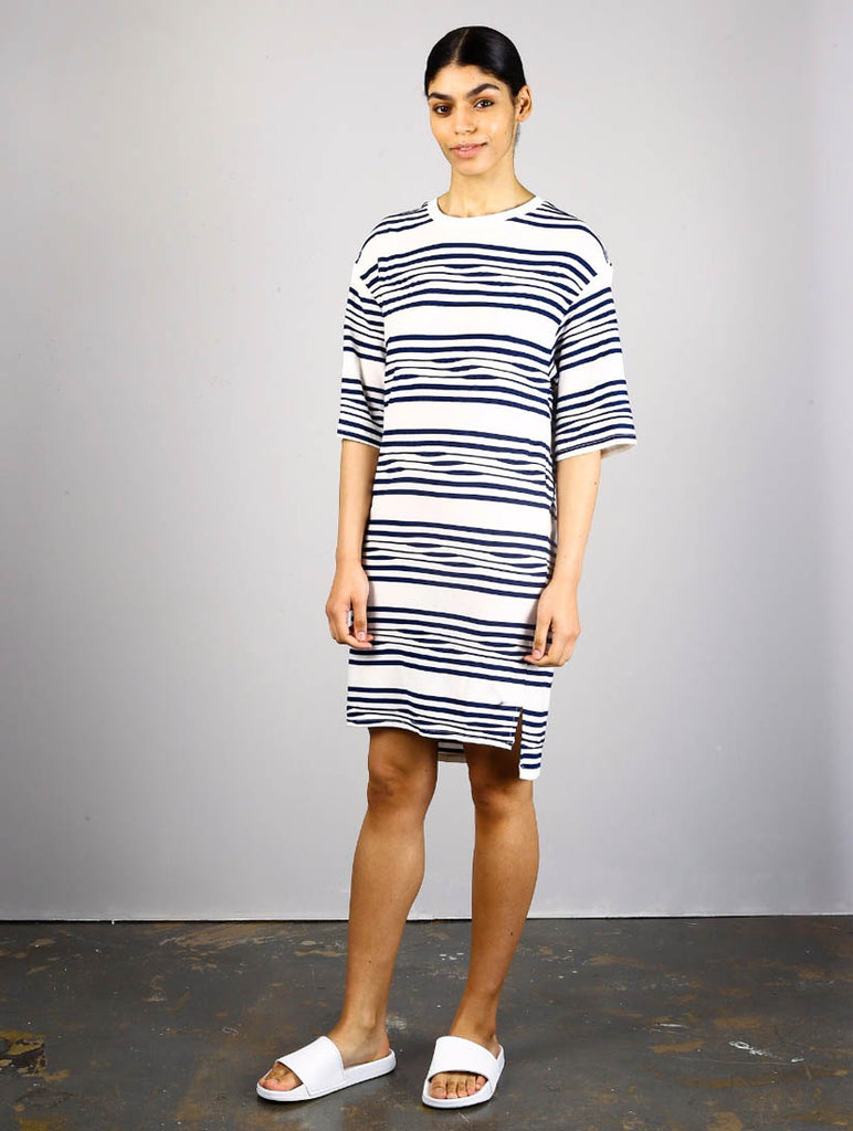 Cascade Dress Navy