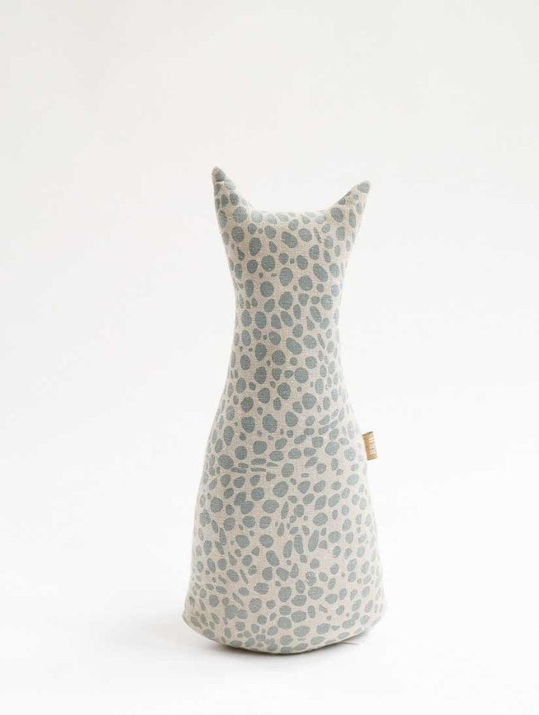 Animal Print Door Stopper Cheetah Blue