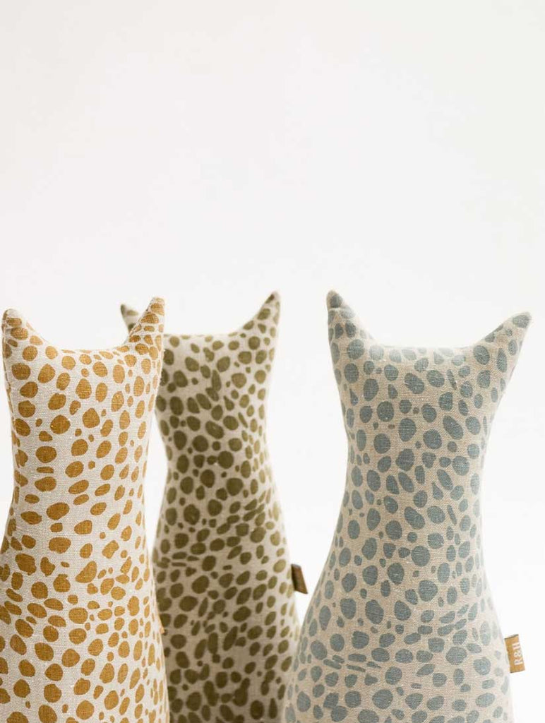 Animal Print Door Stopper Mustard
