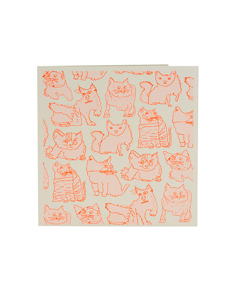 Handprinted Cats Card