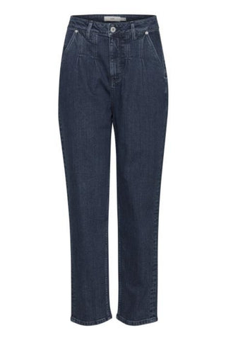 Gulip Pleated Jeans Medium Blue