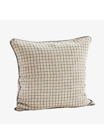 Checked Linen Cushion