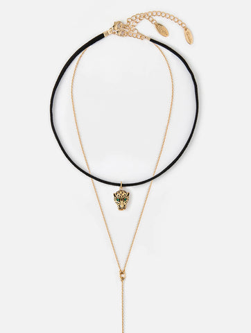Panther Choker and Lariat Pack Necklace