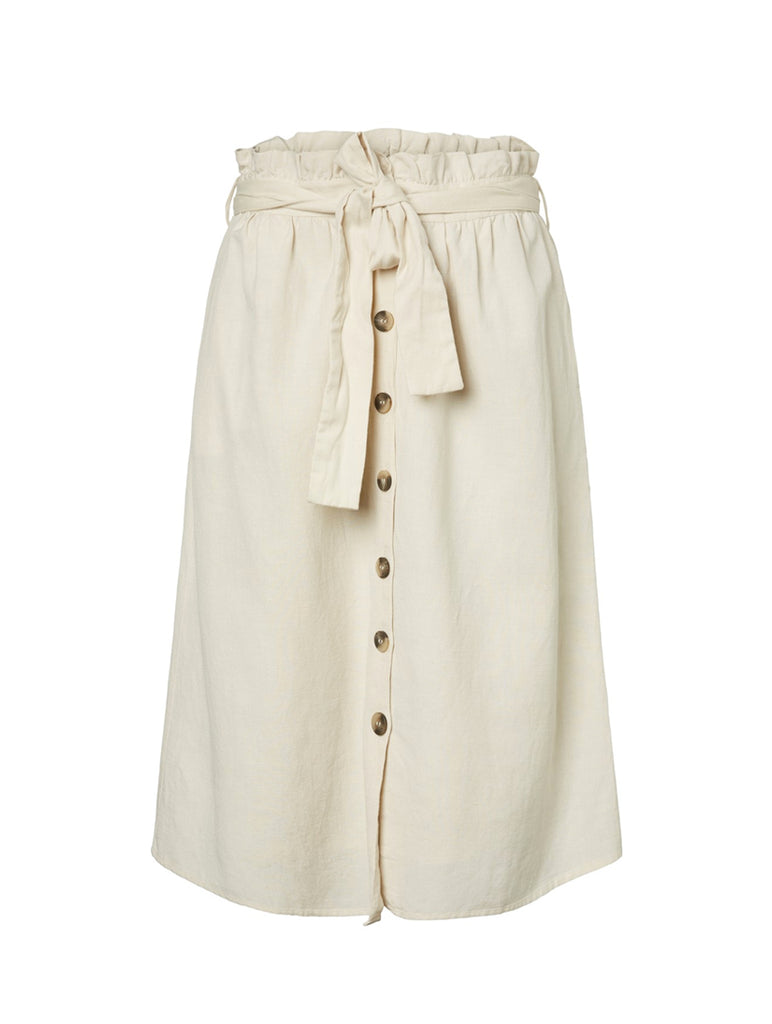 Chris Midi HW Skirt White Pepper