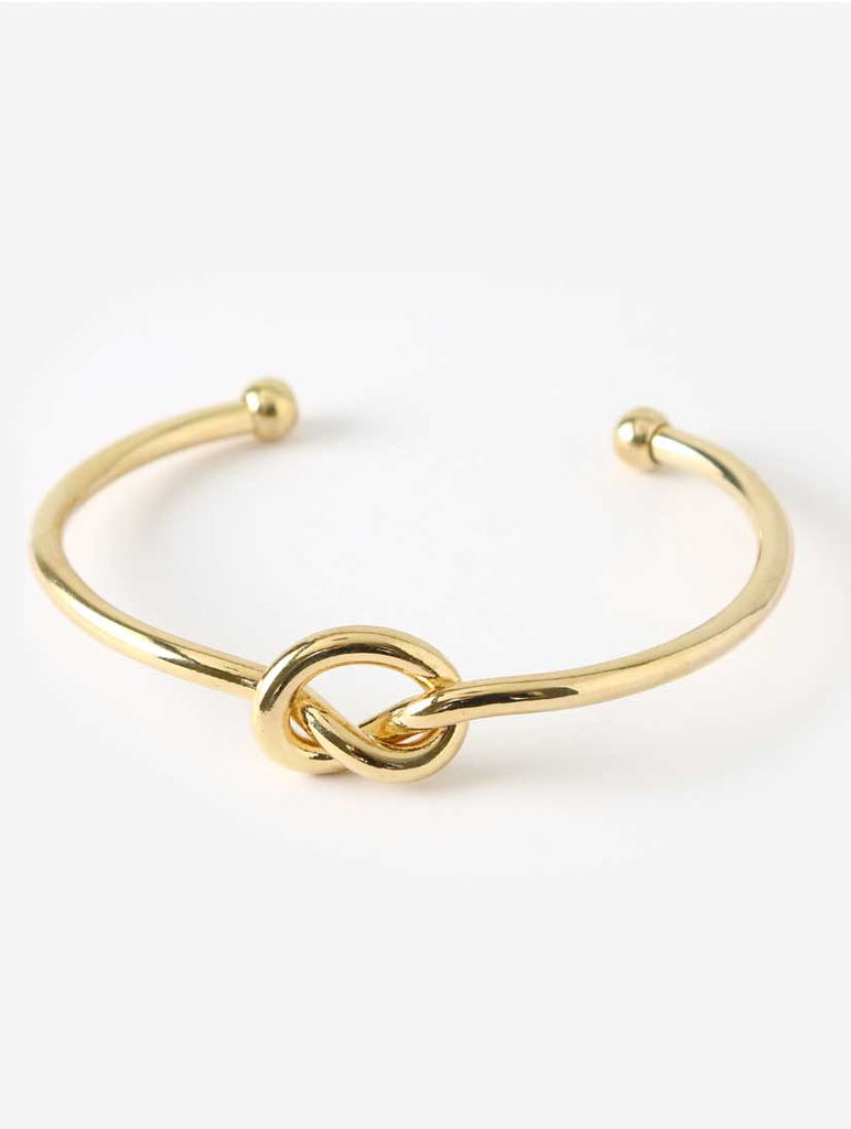 Chunky Knot Bangle Gold