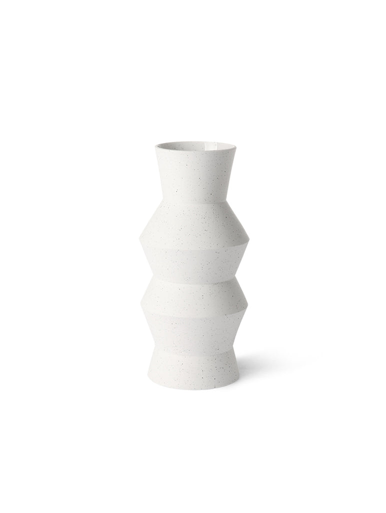 Speckled Clay Vase Angular Medium