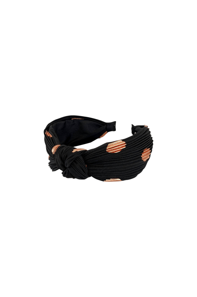 Cobber Dot Headband Black