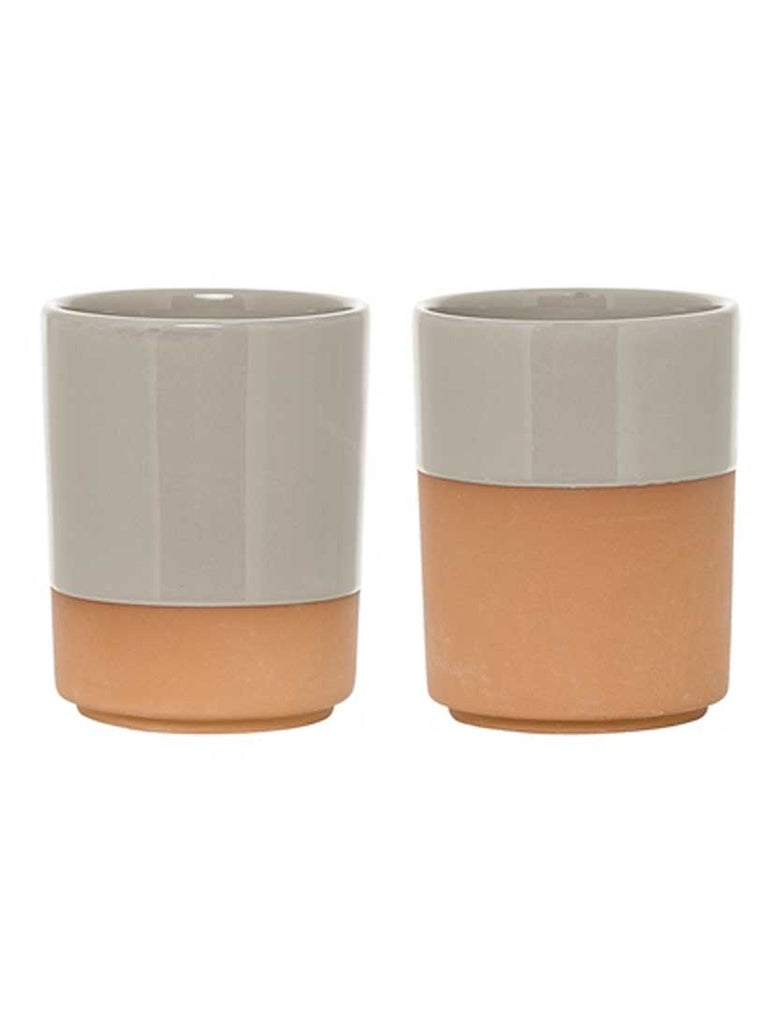 Coffee Cup Grey Terracotta