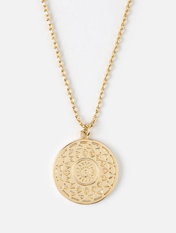 Engraved Coin Ditsy Necklace