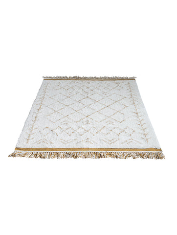 White Cotton Collected Rug
