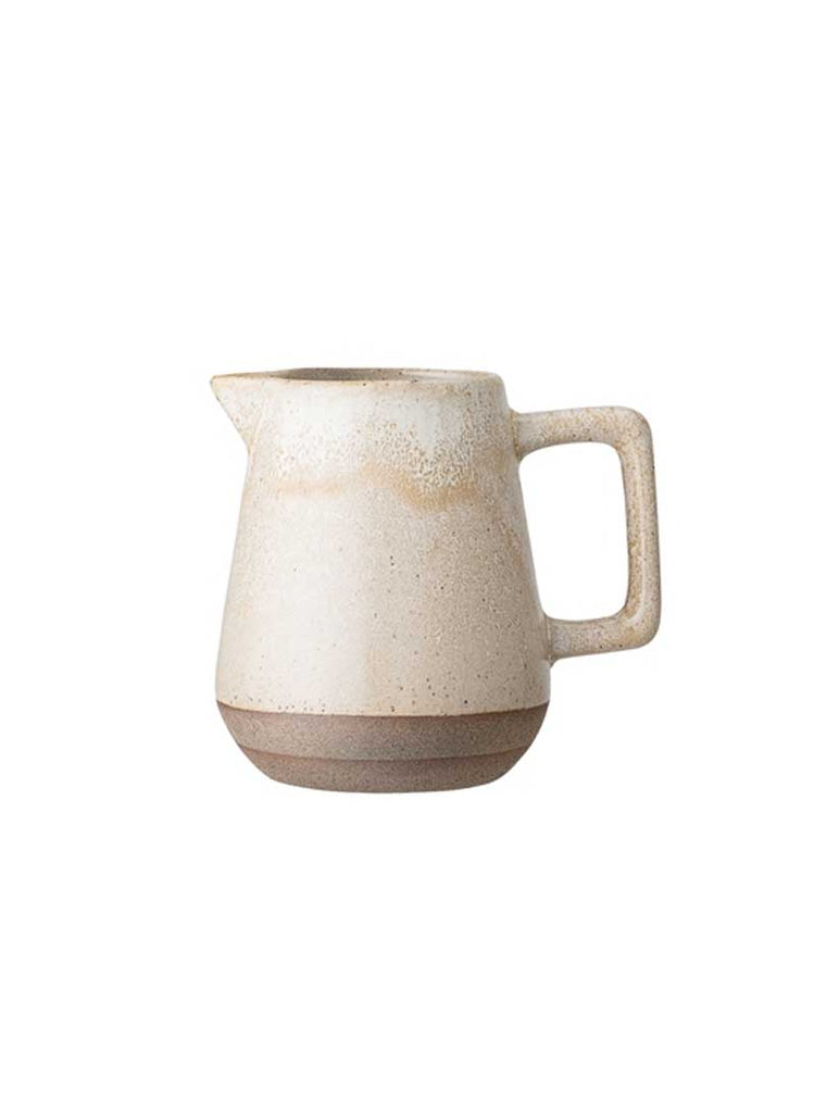 Columbine Milk Jug Nature Stoneware