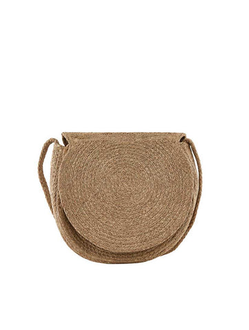 Nona Straw Cross Body Bag Nature