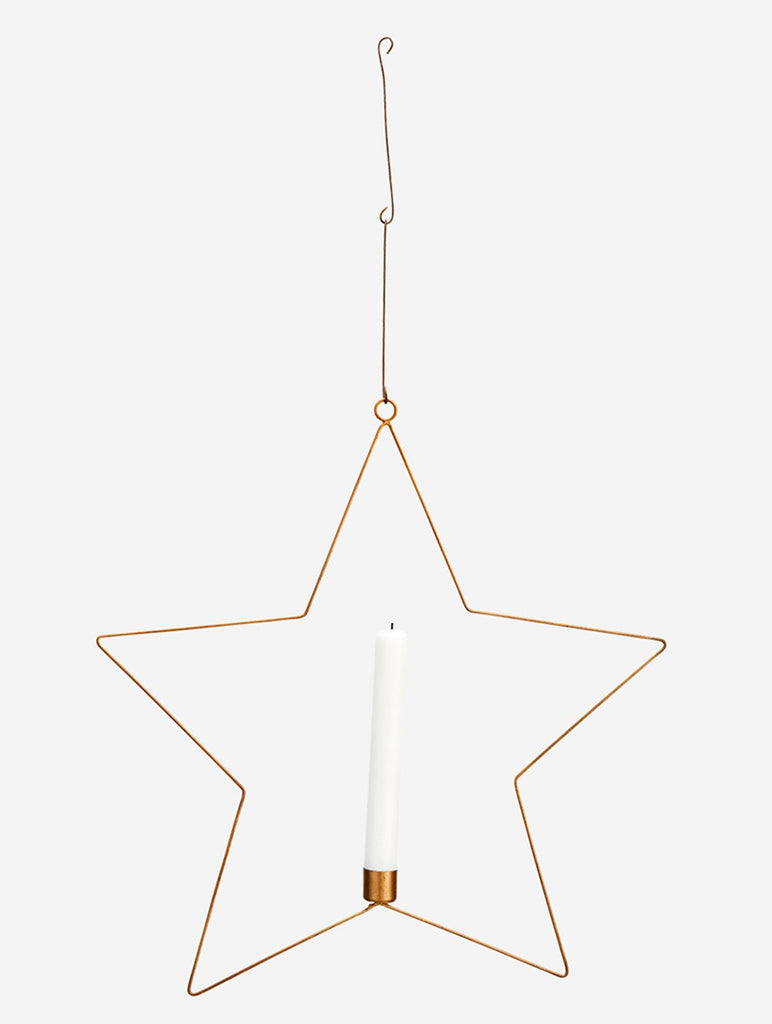 Wire Star with Candle Holder