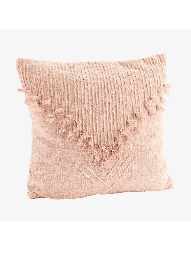 Cushion with Fringes Dusty Rose