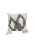 Cushion Triangle Black/White 50x50