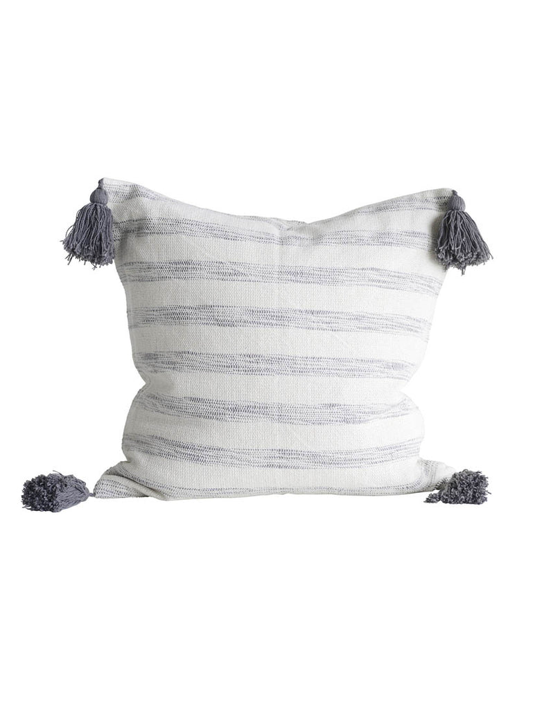Stripe Cushion with Tassels