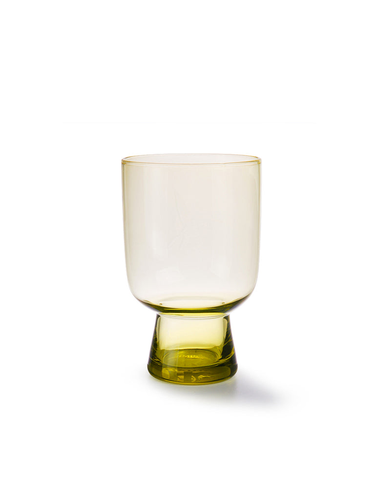 Chartreuse Glass Large Engraved