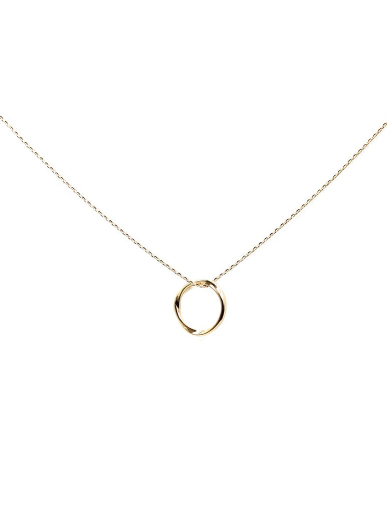 Carmen Circle Necklace Gold