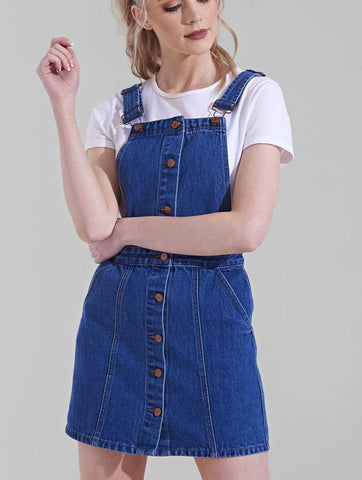 Danny Denim Pinafore Dress