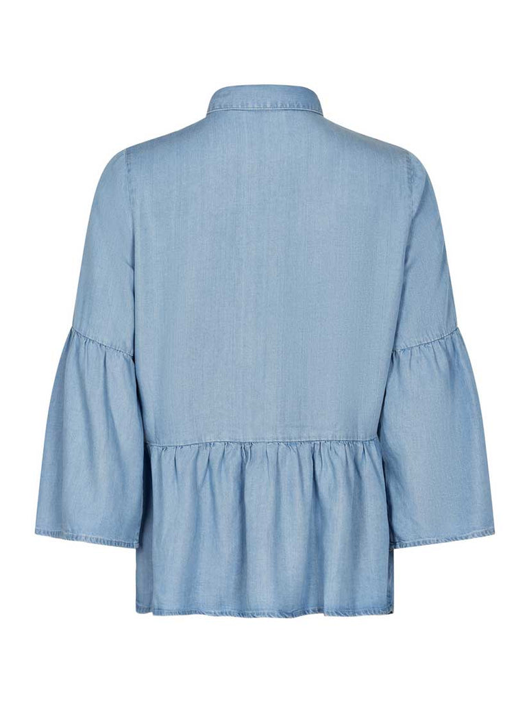 Ahna Blouse Light Blue Denim