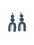Jared Disc Coil Ark Earring Blue