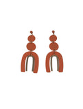 Jared Disc Coil Ark Earring Coral