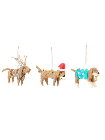 Dog Decoration Wool Ornament