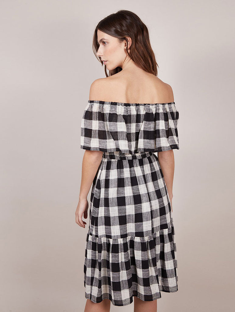 Checked Ruffle Dress