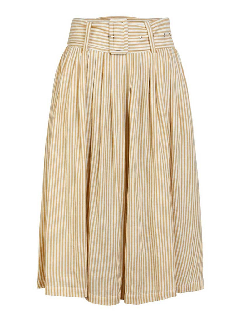 Ember Stripe Midi Skirt Golden