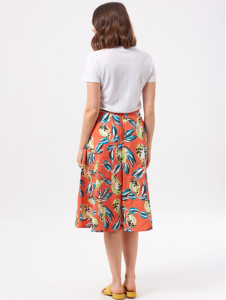 Emily Tropical Punch Skirt Orange Multi