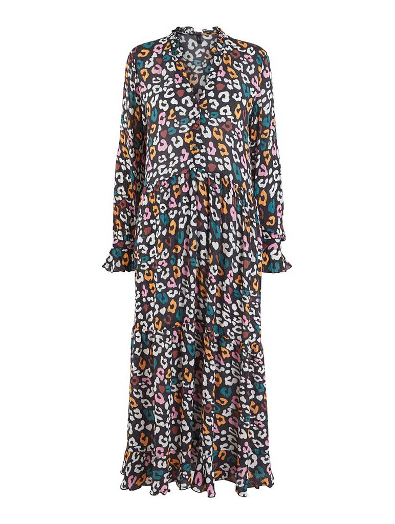 Emma Printed Maxi Dress Black