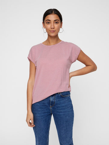 Ava Plain Stripe Top Foxglove