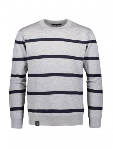 Fresnel Knit Grey/Navy