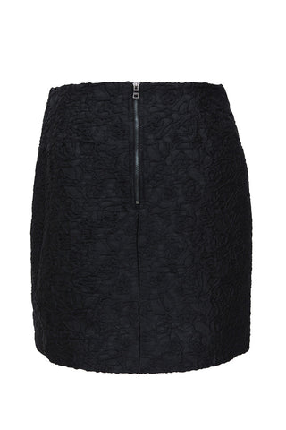 Black Pleat Front Skirt