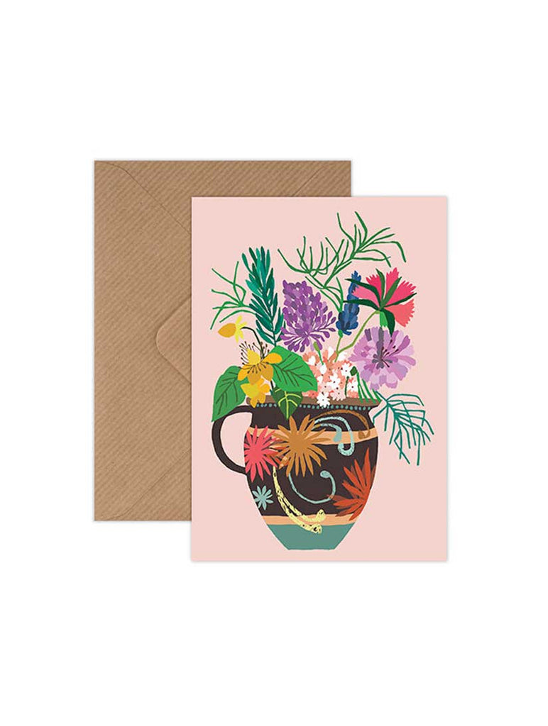Gardener's Vase Greeting Card