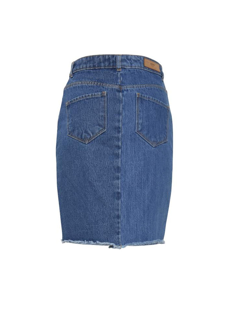 Gasto Denim Skirt Mid Blue