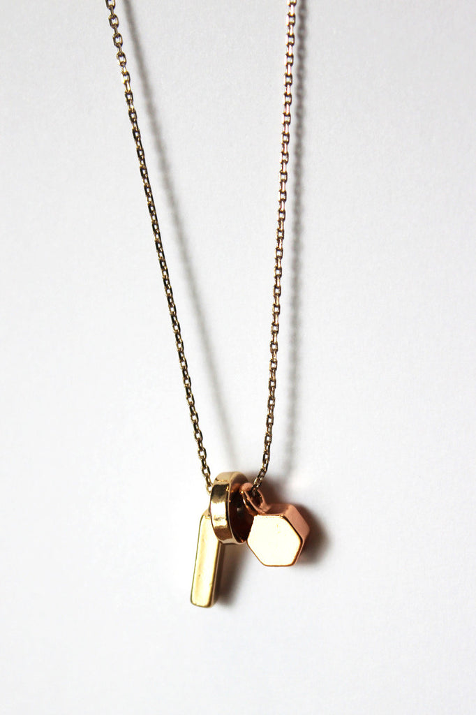 Geo Nugget Ditsy Necklace