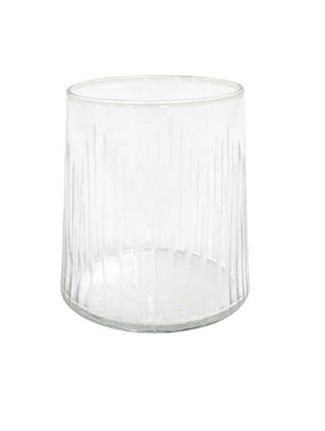 Drinking Glass Engraved Stripes