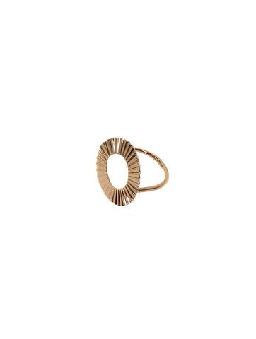 Anais Plaited Metal Circle Ring Gold