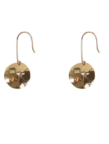 Gold Monserrat Disc Earrings